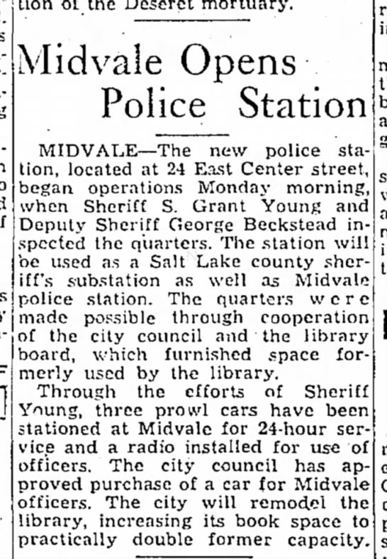 Midvale opens new police station 1-22-35 -