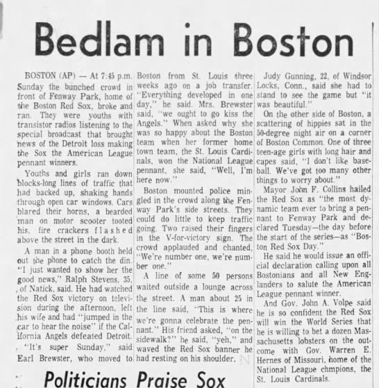 Bedlam in Boston -