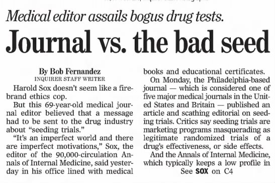 Journal vs. the bad seed -