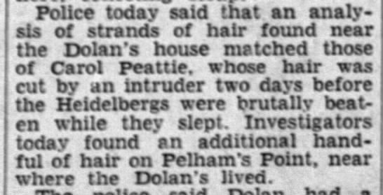 Hair found near Dolan's house points to possible Phantom Barber identity -