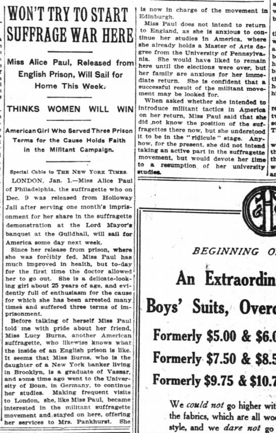 nyt jan 2 1910 Alice release from UK jail to return to US -