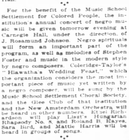 Music 2 1915 - for the benefit of the Music School Settlement...