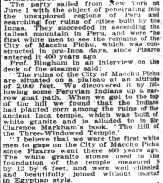 Bingham's expedition -