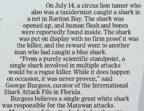 Was the shark caught? -