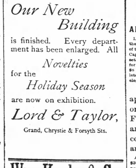 Our New Building - Lord & Taylor -
