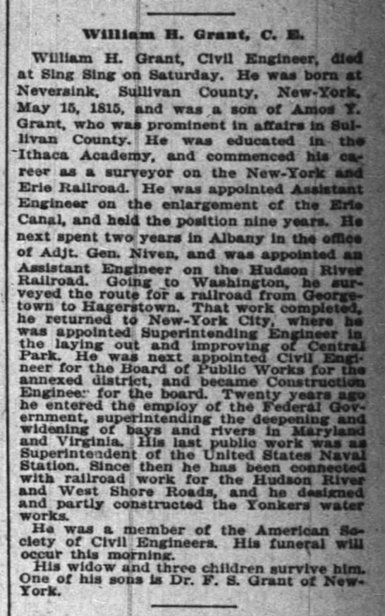 William H Grant - Obituary - Page 5 - Column 7 -