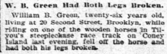 steeplechase-26 yr old fell broke both legs 7-11-1897 -