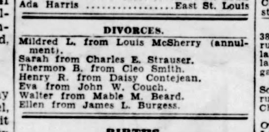 James L & Ellen Burgess Divorce -