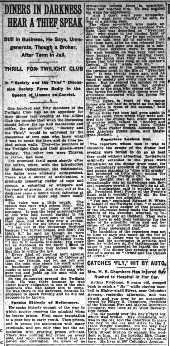 The New York Times (New York, New York) 11 May 1912  Page 10 -