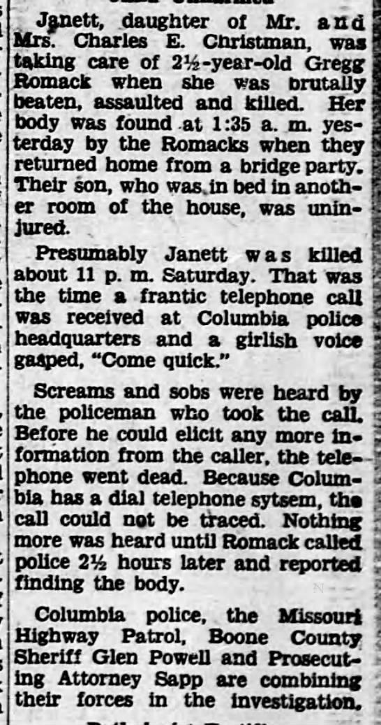 Jannett Christman - Called police -