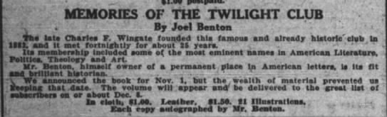 The New York Times (New York, New York) 5 December 1909  Page 113 -