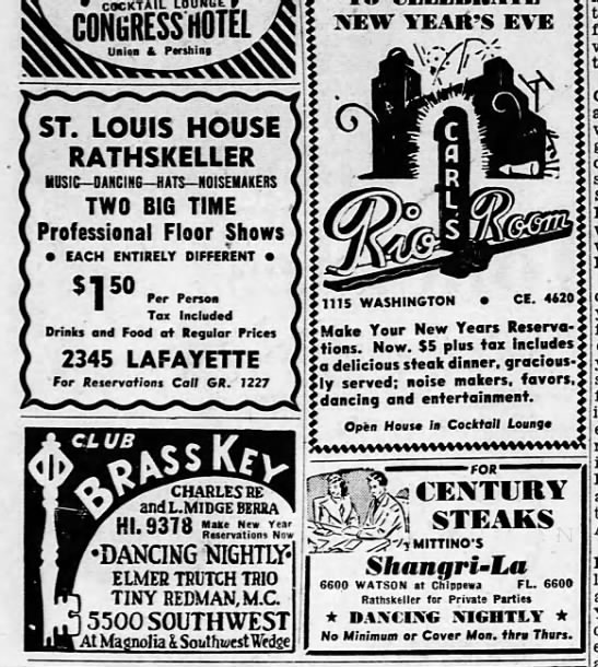 St Louis House Rathskeller 1949 22 -