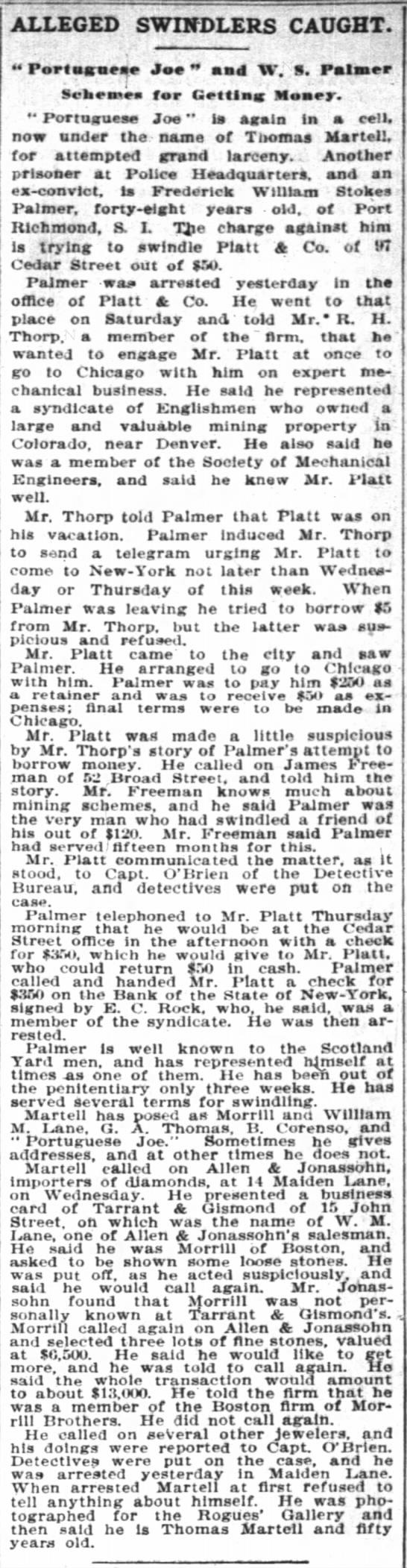 The New York Times 04 Sep 1896 Palmer -