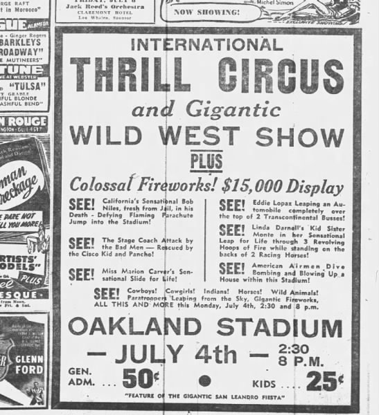 1949_July 3_Oakland Tribune_Thrill Circus -