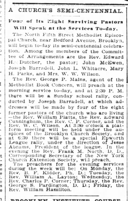 Episcopal Church's semi centennial celebration 1897 - McKei-Vey un-equaled A CHURCH'S...