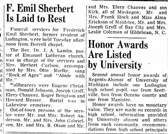 Emil Sherbert laid to rest -
