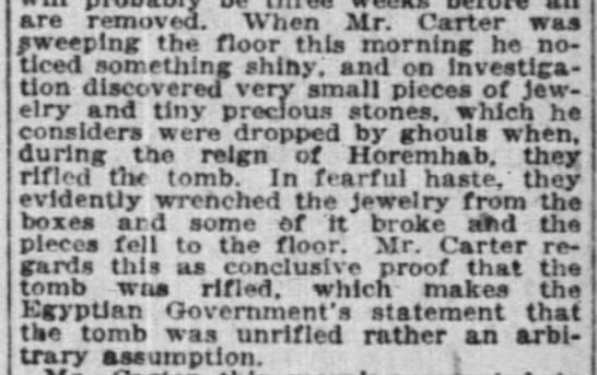 Tut's tomb robbed in antiquity -