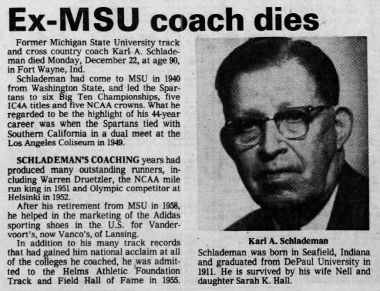 Ex-MSU coach dies -