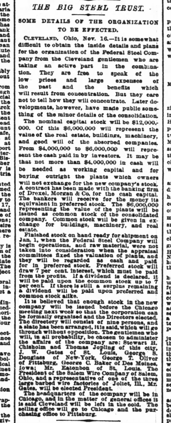 The Big Steel Trust