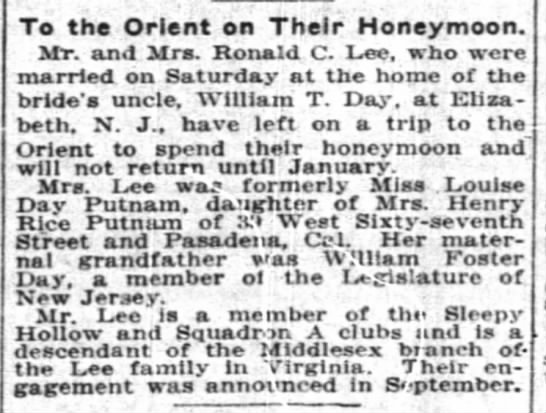 Lee-Putnam wedding -