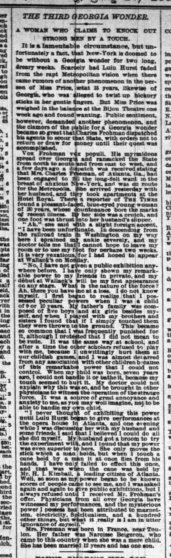 Another Georgia Magnet 27 Jul 1884 -