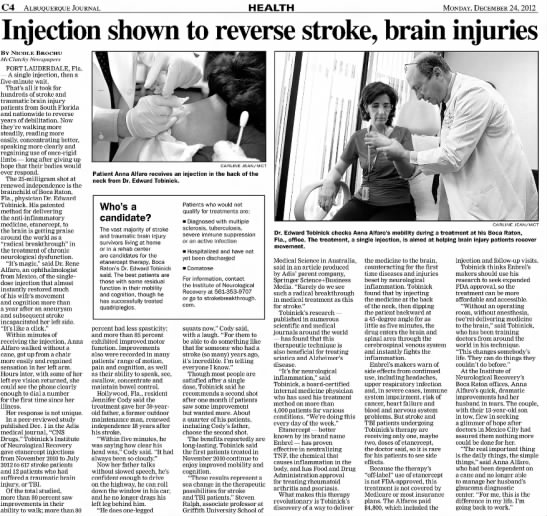 injection shown to reverse stroke brain injuries -