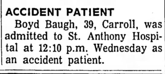 Boyd Baugh Accident -