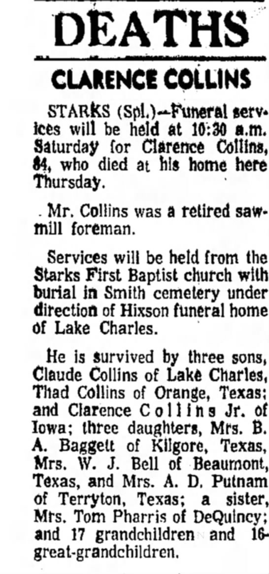clarence collins -