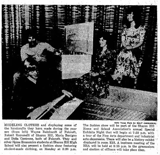 Daily Times photo - SHHS students showcase their handicrafts at Special Exhibits Night in 1972. -