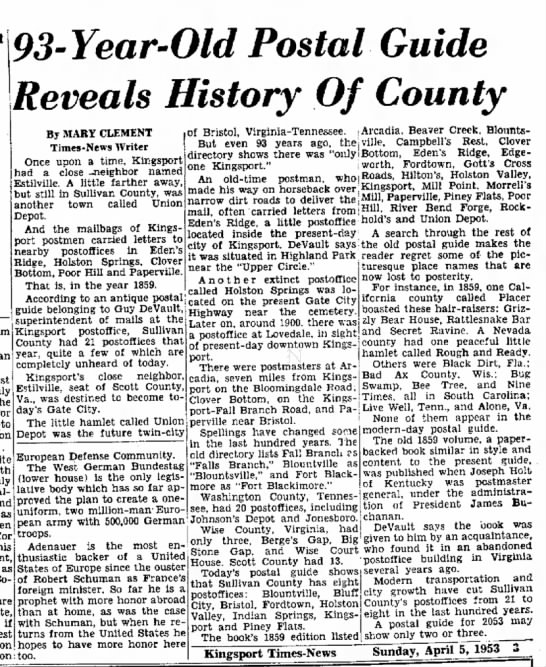 kingsport history - Newspapers com