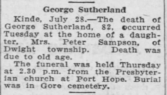 George Sutherland obituary PHTH July 28 1922 pg 10 -