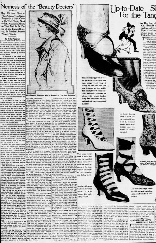 """Nemesis of the Beauty Doctors"" 1914 (Frances Benzecry) -"