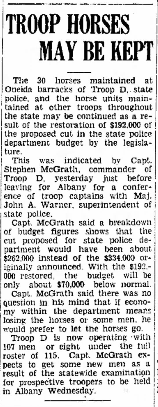 25 May 1939 Troop D Horses -