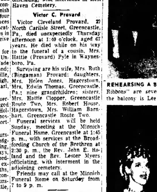 1952 August 29 Morn Herald Victor Cleveland Provard -