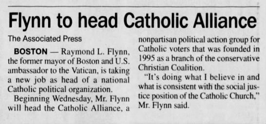 Flynn to head Catholic Alliance -