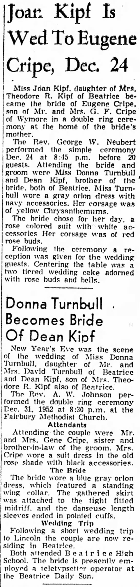 Donna Turnbull Kipf Wedding -