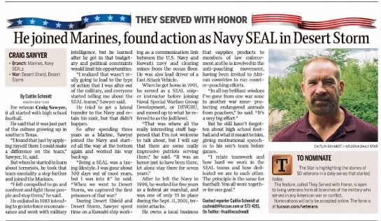 - THEY SERVED WITH HONOR l He joined Marines,...