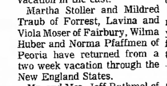 Daily Leader 23 Oct 1975 Moser aunts trip to New England