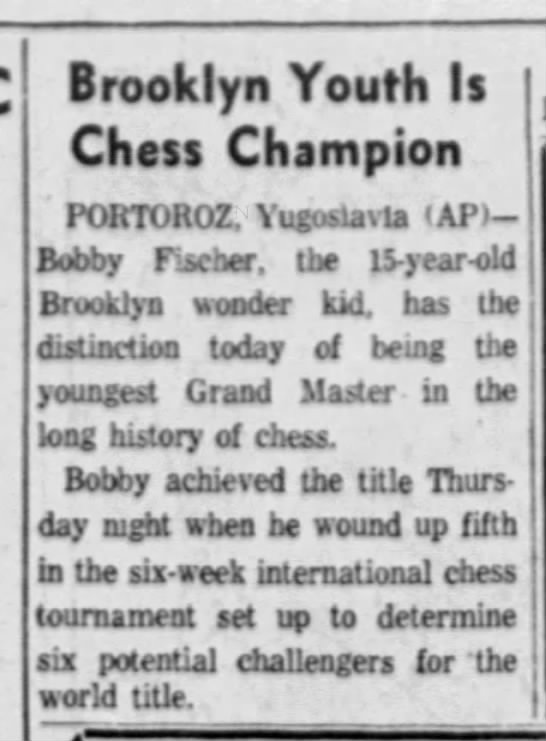 Brooklyn Youth Is Chess Champion -