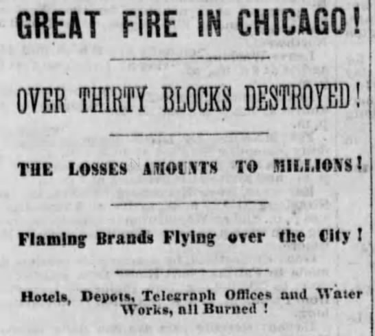 Great Fire in Chicago -