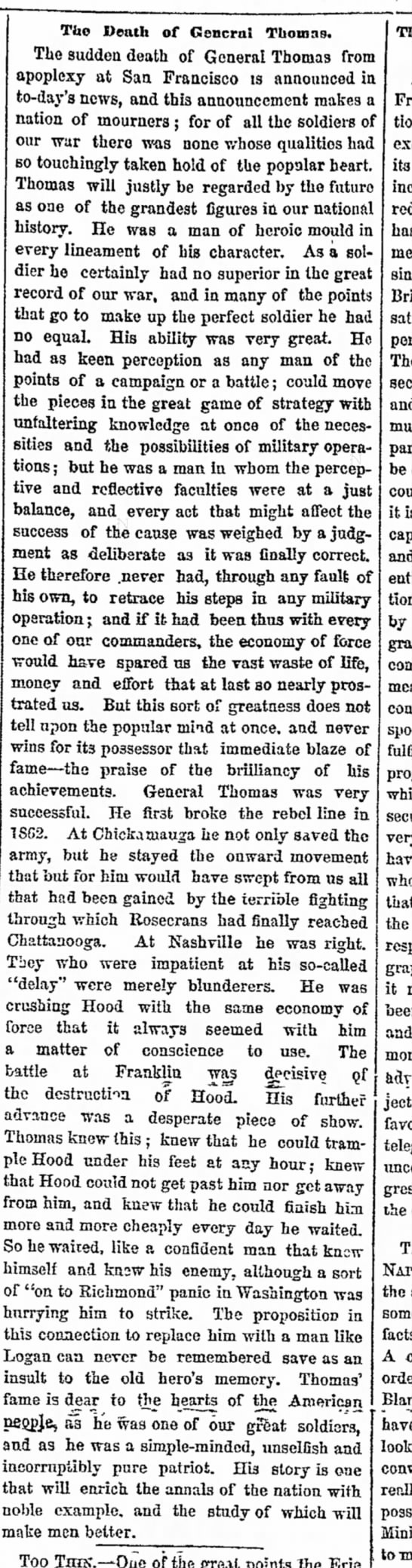Thomas Obit