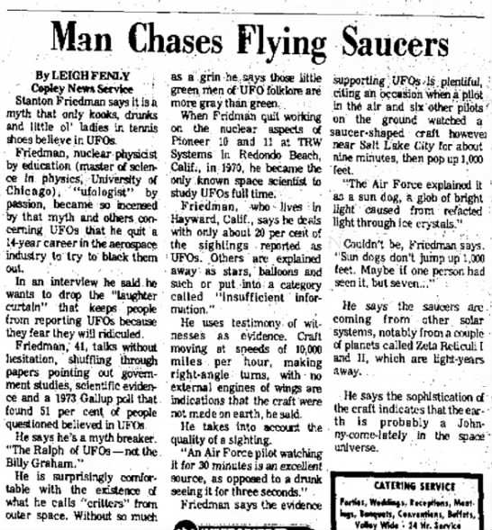 Man Chases UFOs - Br Her Jun 2 1976 -