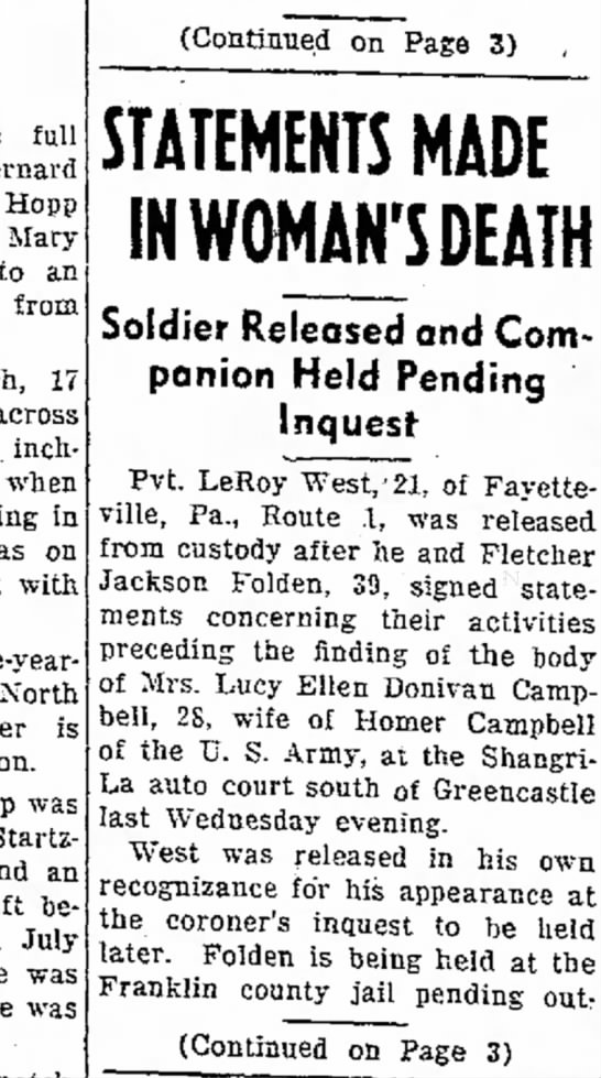 Morning Herald (Hagerstown, MD) 13 March 1945 pg. 1 -
