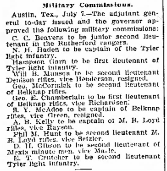 CC Beavens Military Commission