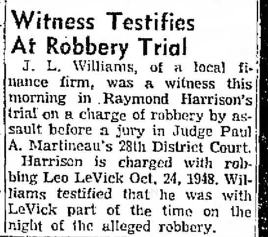 Trial of men accused of robbing Leo Levick -