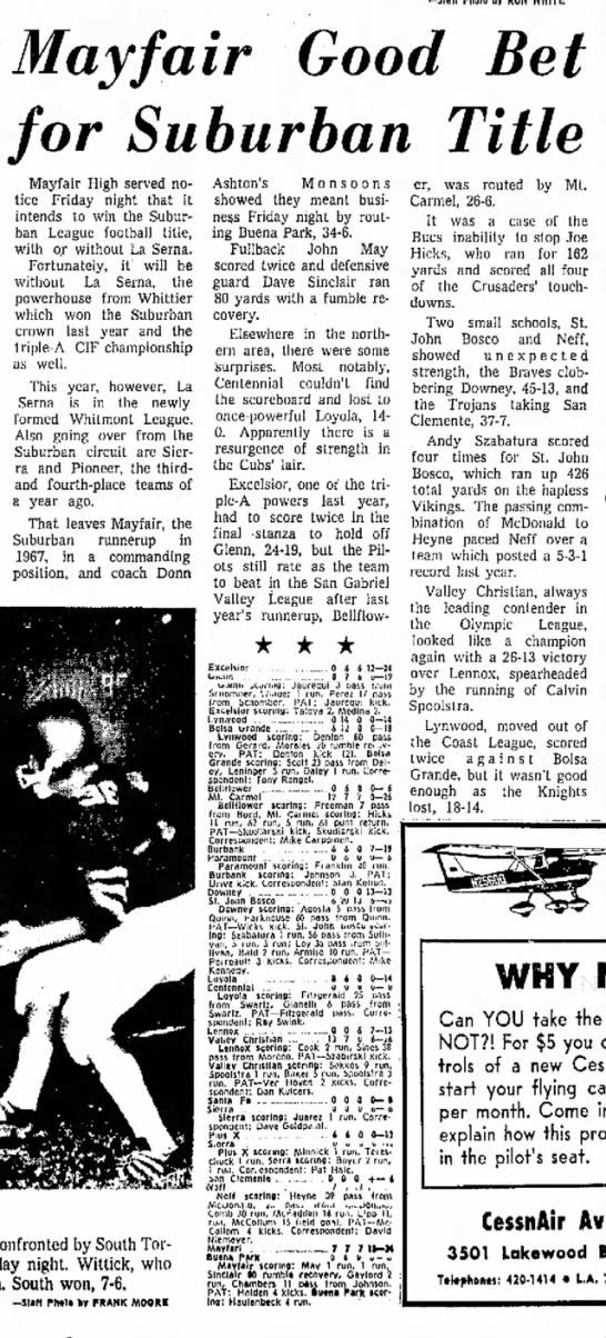 Spoolstra, Calvin 19680922; Independent Press Telegram, Long Beach, CA -