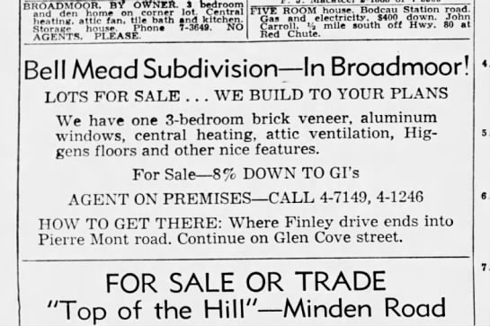 Bell Meade Subdivision - Newspapers com