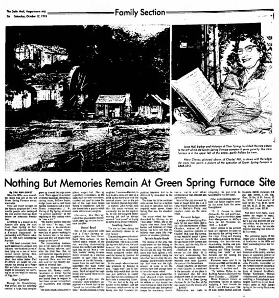 Green Spring Furnace History
