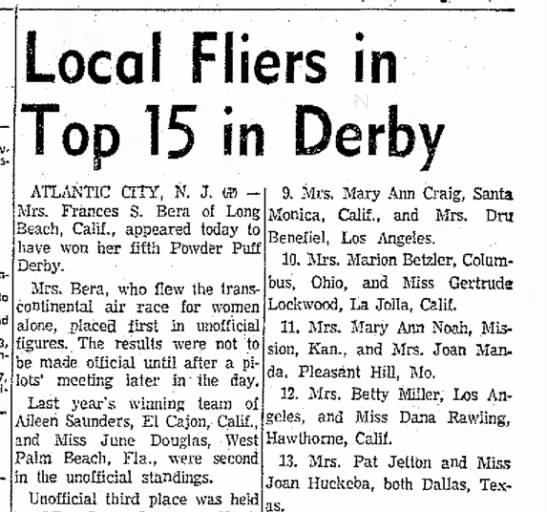 1961-The Corpus Christie Caller-Times - Mu Ho Green 66 Local Fliers in Top 15 in Derby...