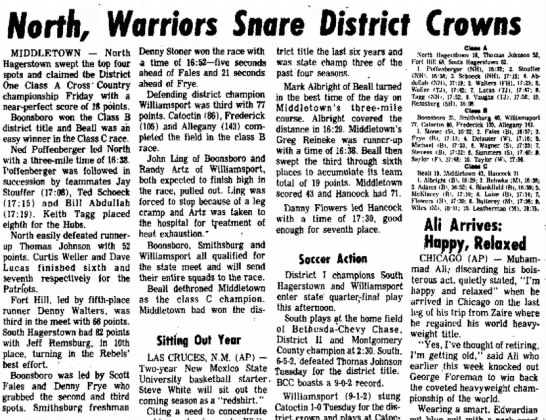 North snares District Crown, Daily Mail, Nov 2, 1974 -